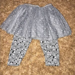 Minnie Mouse tutu with leggings